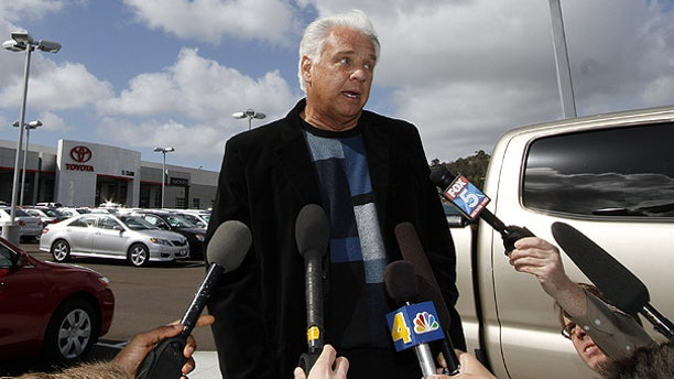 Mar. 9: Driver James Sikes talks about his experiences in his Toyota Prius during a news conference held at Toyota of El Cajon, Calif.