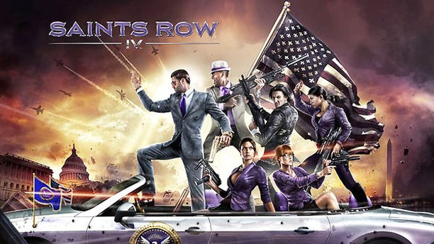 """Artwork for the video game """"Saints Row IV,"""" which was banned by an Australian video game review board over decency standards."""