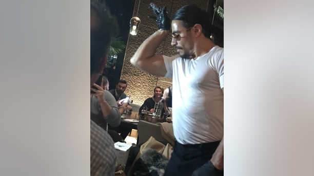 As of Tuesday night, Turkish restaurateur Nusret Gökçe had changed his salting style, perhaps due to concerns over NYC health codes.