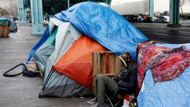 Those who responded to the poll say homelessness, shown here in San Francisco, is one of the main problems facing the Bay Area today, although they did not cite it as a major reason for them wanting to move out