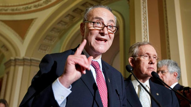 May 8, 2012: Sen. Charles Schumer speaks to reporters following a weekly strategy luncheon.