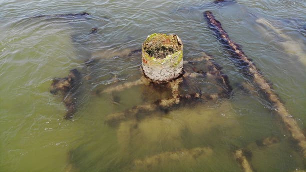 The wreckage is believed to be part of a Civil War-era steamer.