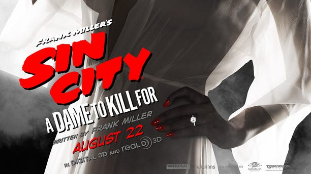 """""""Sin City"""" poster featuring Eva Green."""