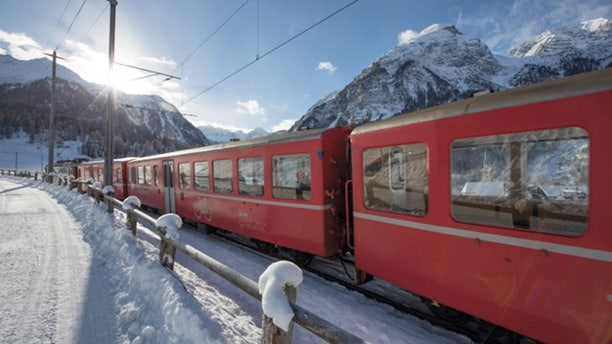 The train route from Zurich to St. Mortiz via Chur is a World Heritage Site.