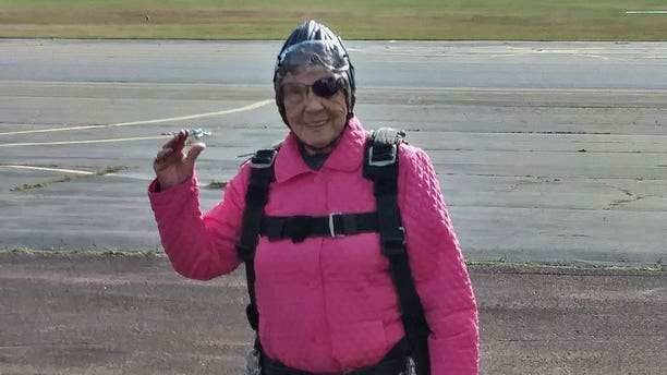 Eila Campbell celebrated her recent birthday by jumping out of a plane.