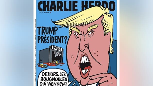 The new issue of Charlie Hebdo features drawings of the Orlando terror attack and Donald Trump.