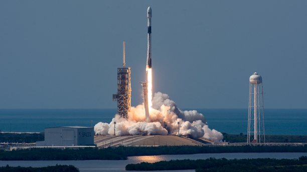 "SpaceX's first ""Block 5"" Falcon 9 rocket launches from NASA's Kennedy Space Center on May 11, 2018. On May 24, President Donald Trump signed a new space policy directive that could ease regulations on SpaceX and other commercial spaceflight companies."