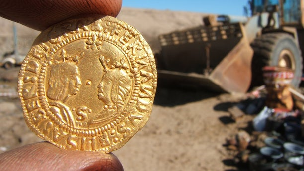 One of the gold coins discovered in the Namibian shipwreck (Dieter  Noli)
