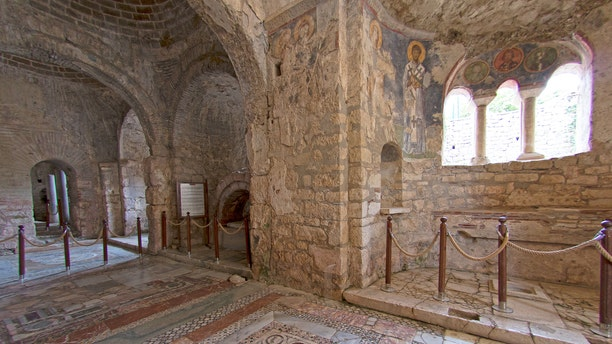 File photo shows the interior of St Nicholas Church in Demre, Turkey. Experts believe that the grave of St. Nicholas, the historical inspiration for Santa Claus, may be beneath the church.