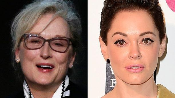 Meryl Streep and Rose McGowan.