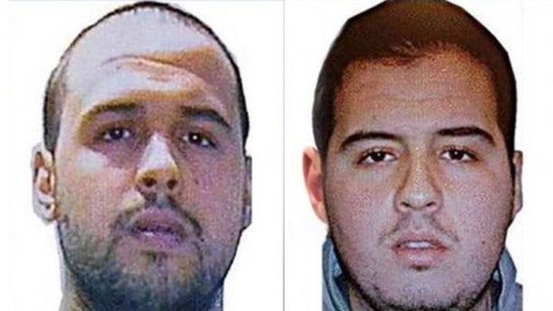 Brothers Khalid El Bakraoui, (l.), and Brahim El Bakraoui, (r.)