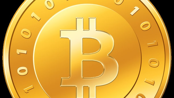"""An illustration of the """"bitcoin,"""" a virtual currency currently selling for more than $90 U.S. Dollars."""