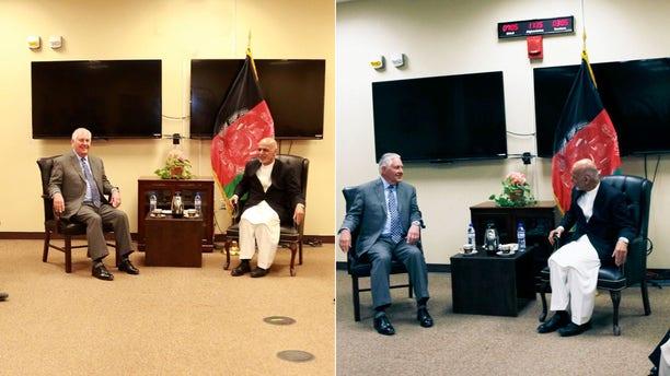 Secretary of State Rex Tillerson meets with Afghan President Ashraf Ghani.