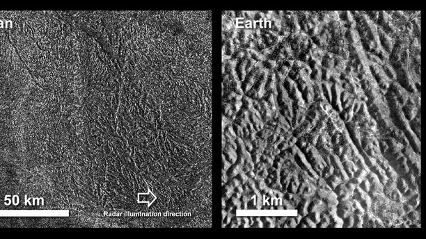 NASA's Cassini spacecraft captured images of some of Titan's labyrinths on a 2016 flyby.