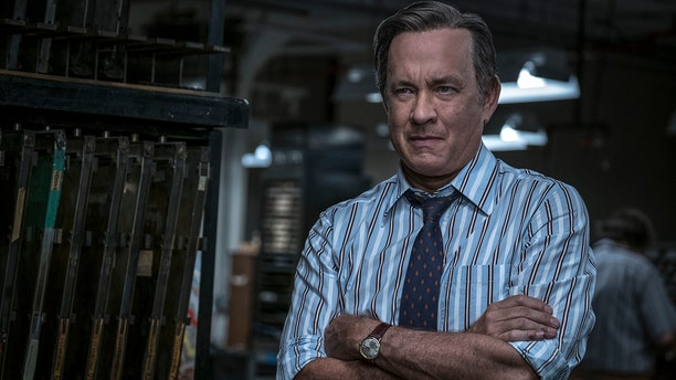 """In this image released by 20th Century Fox, Tom Hanks portrays Ben Bradlee in a scene from """"The Post."""" On Monday, Dec. 11, 2017, Hanks was nominated for a Golden Globe for best actor in a motion picture drama for his role in the film."""