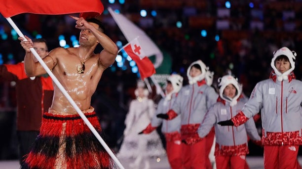 Pita Taufatofua is at the Winter Olympic Games for cross-country skiing.