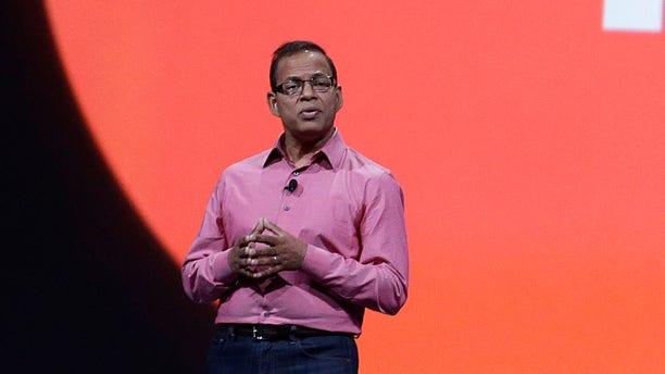 May 15, 2013:  Amit Singhal, senior vice president and software engineer at Google Inc., speaks at Google I/O 2013 in San Francisco.