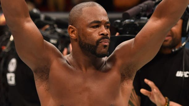HOUSTON, TX - OCTOBER 03: Rashad Evans enters the Octagon before facing Ryan Bader in their light heavyweight bout during the UFC 192 event at the Toyota Center on October 3, 2015 in Houston, Texas. (Photo by Josh Hedges/Zuffa LLC/Zuffa LLC via Getty Images)