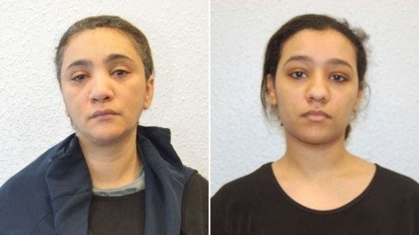 Mina Dich [left] was accused of assisting her daughter Rizlaine Boular [right] who admitted to planning an attack.