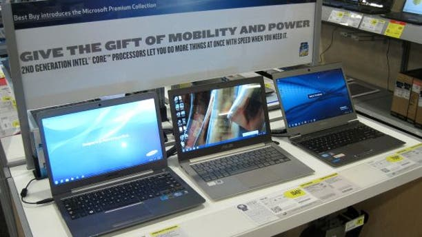 Ultrabooks are seen on display at retail -- but is anyone buying this year?