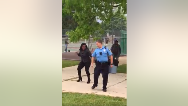 """The Lansing Police Department posted the video on Facebook showing the officer dancing to """"Cupid Shuffle."""""""