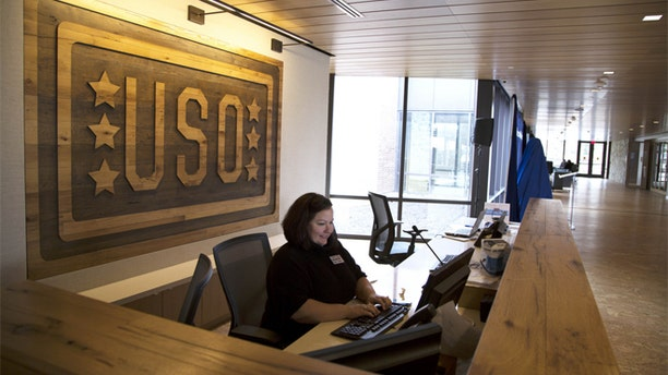 Shown here is the USO-sponsored Warrior and Family Center at Walter Reed in Bethesda, Md.