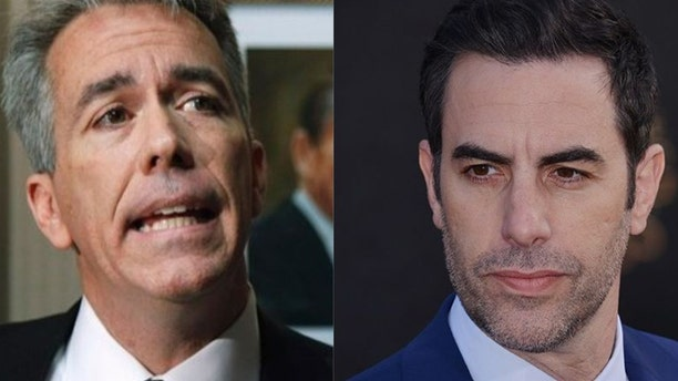 "Former Rep. Joe Walsh, left, said Sacha Baron Cohen Cohen ""gets people to say stupid things because he lies to them."""