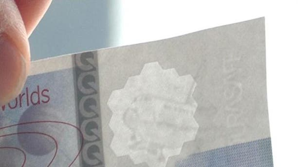 A watermark in a Durasafe bill helps prevent counterfeiting.