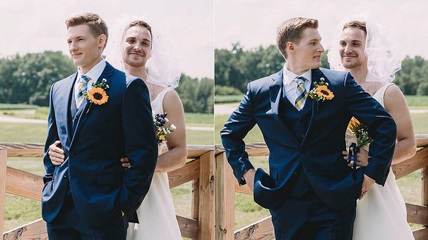 The groom couldn't stop giggling once he realized what was happening, the photographer said.