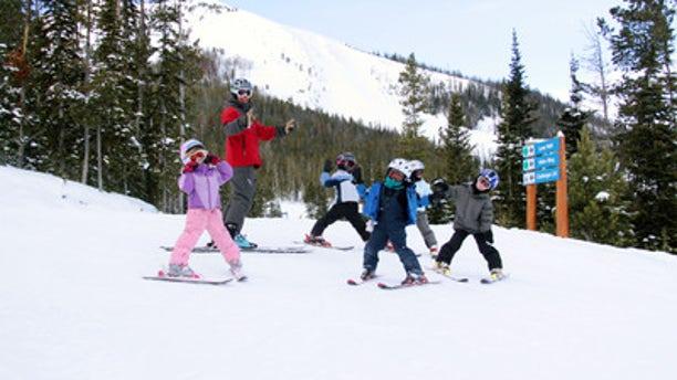 Take the kids to ski school at  Big Sky Resort.