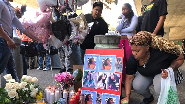 A makeshift memorial was made for Nia Wilson who was killed in a stabbing attack on Sunday, July 22, 2018.