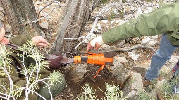 Parks employees taped the gun together to keep it from falling apart. (U.S. National Parks Service)