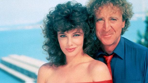 Kelly Le Brock and Gene Wilder.