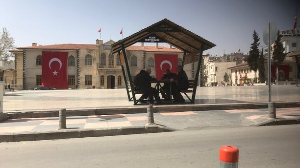 The quiet Turkish-Syrian border town of Kilis, where many Syrians have fled from the warzone