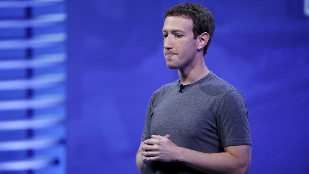 Facebook CEO Mark Zuckerberg speaks at a conference in San Francisco on April 12, 2016.
