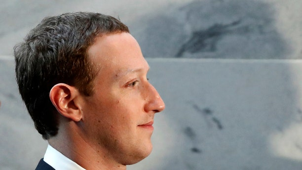 Facebook CEO Mark Zuckerberg is seen on Capitol Hill in Washington, D.C. prior to his Senate testimony.