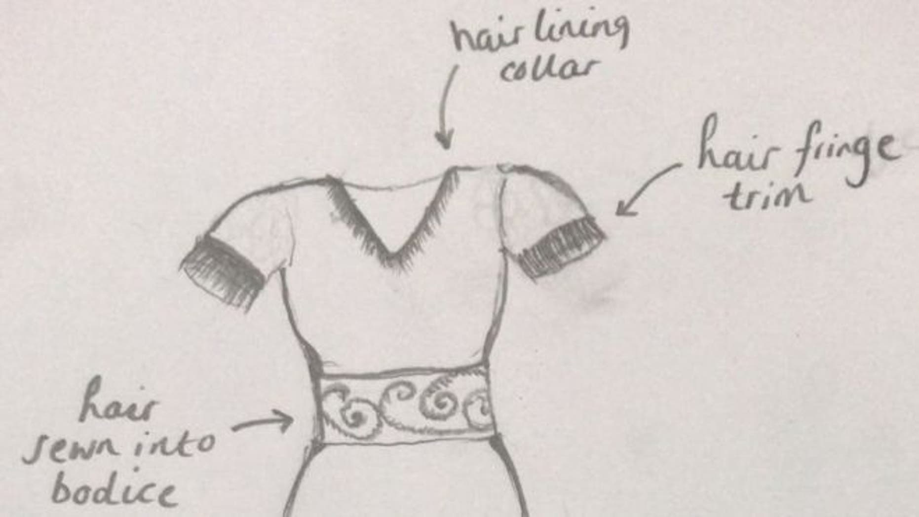 "The anonymous 61-year-old wrote on a fashion manufacturing website that she wants to ""recreate"" the dress that her mother wore when her parents married in 1953."