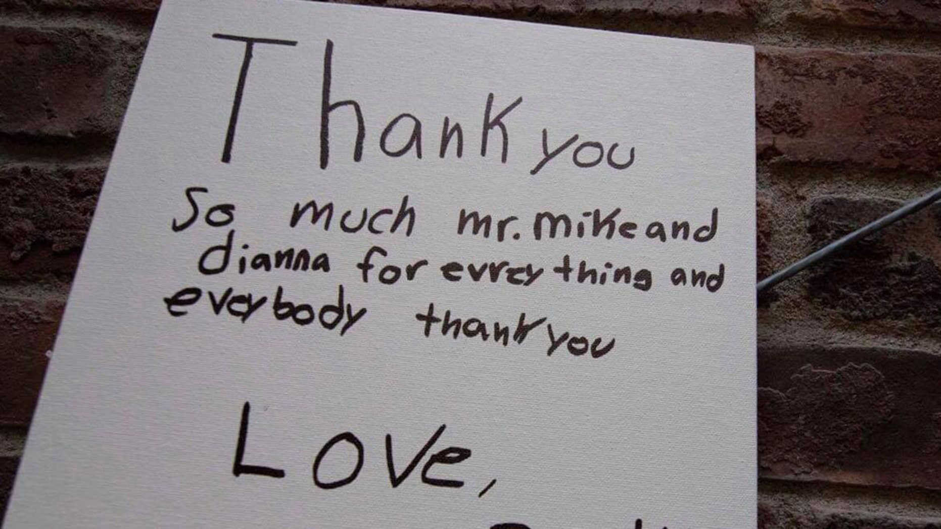 The 12-year-old boy shared a sweet note after celebrating his first-ever birthday party.