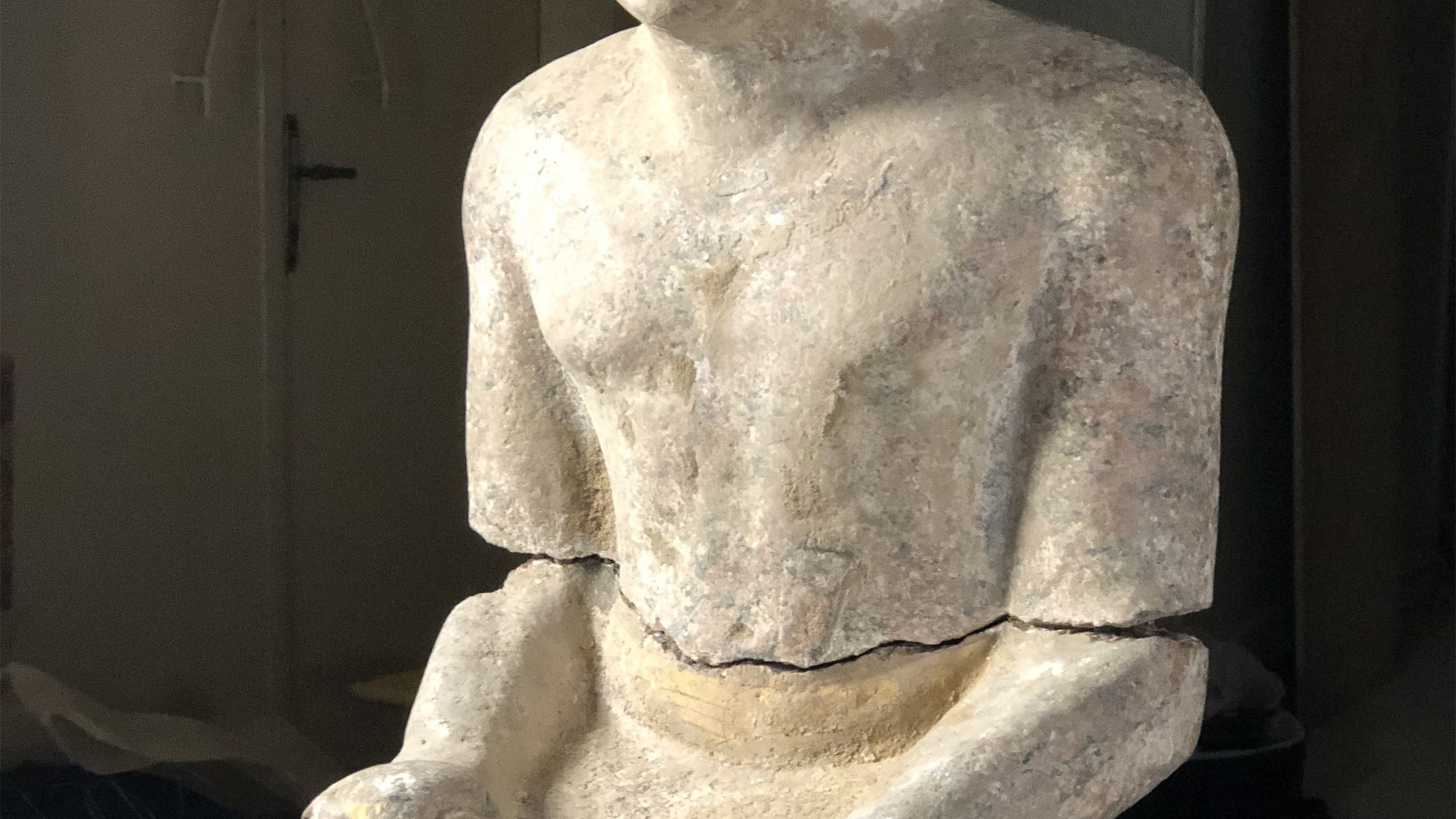 Complete granite statue of Kaires detail. (Credit: Czech Institute of Egyptology, Faculty of Arts, Charles University)