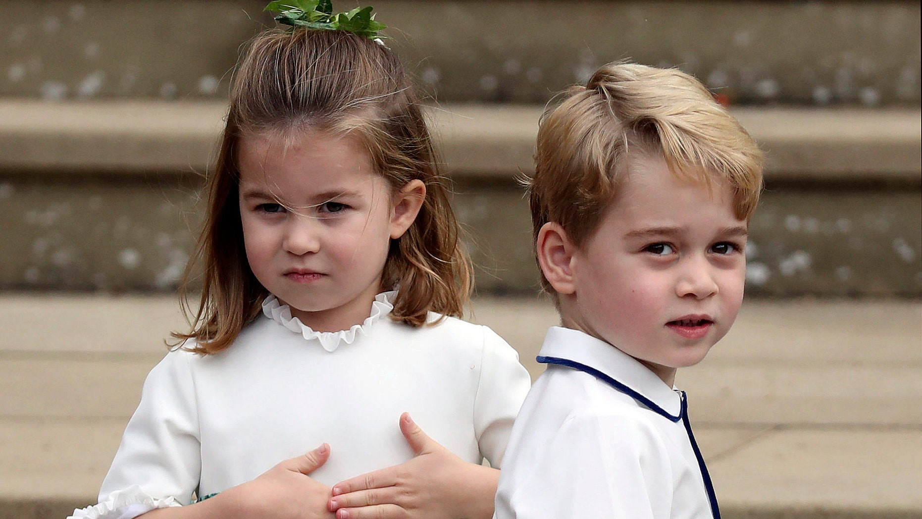 Prince George and his younger sister Princess Charlotte.