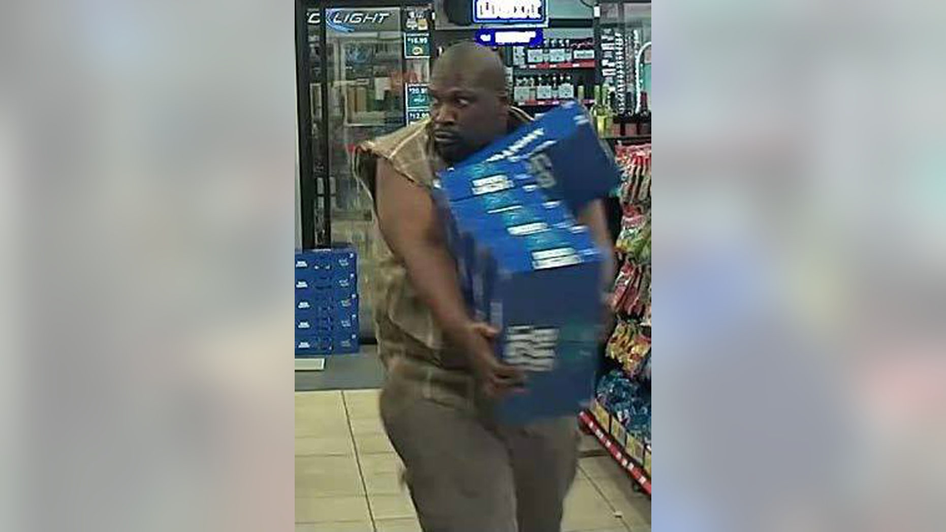 A man is seen stealing five cases of beer at a Texas convenience store on Wednesday, police said.