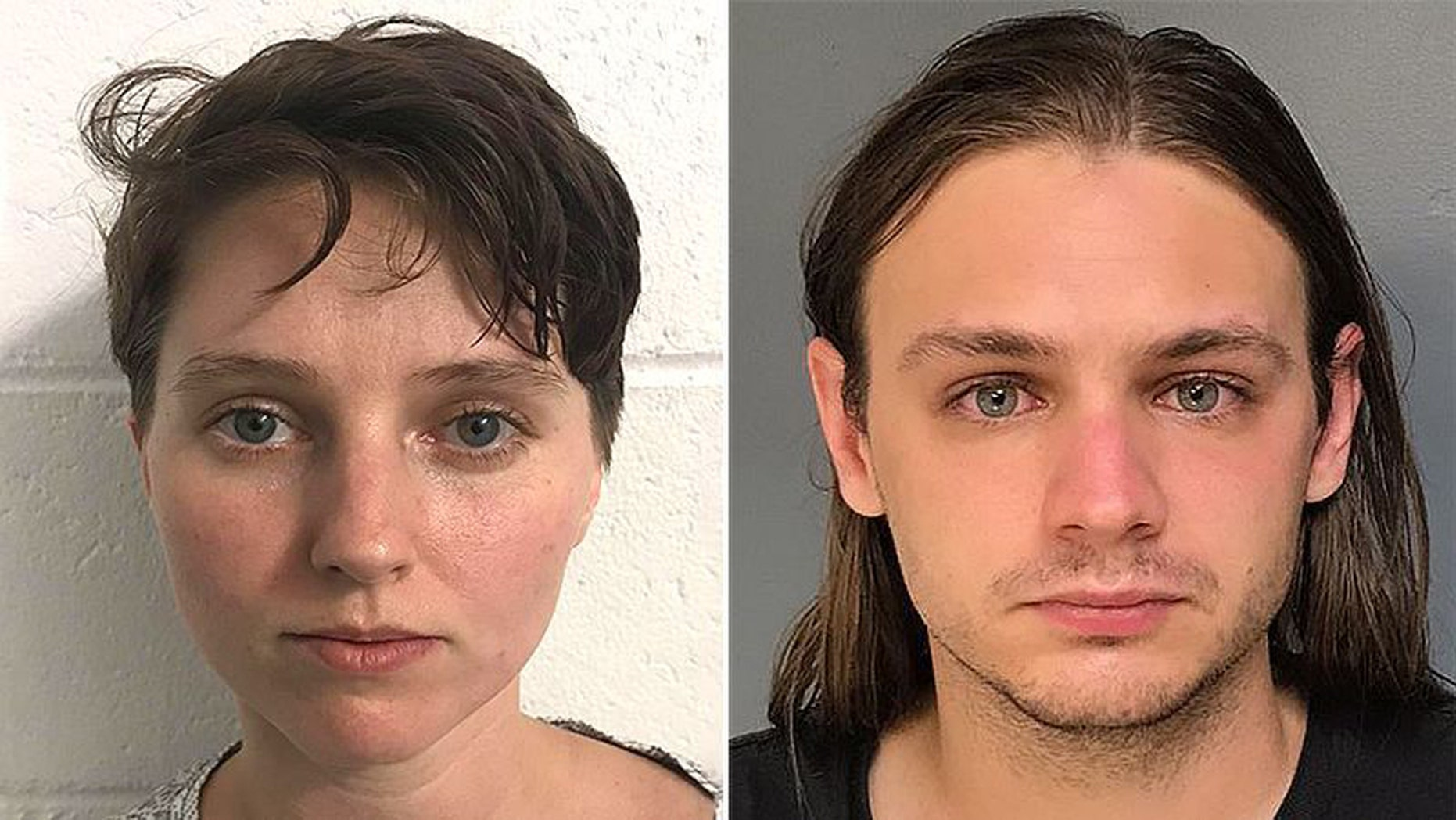 Kayla Parker (R) and her ex-boyfriend David Carbonaro (L) are pictured in these undated mugshots.