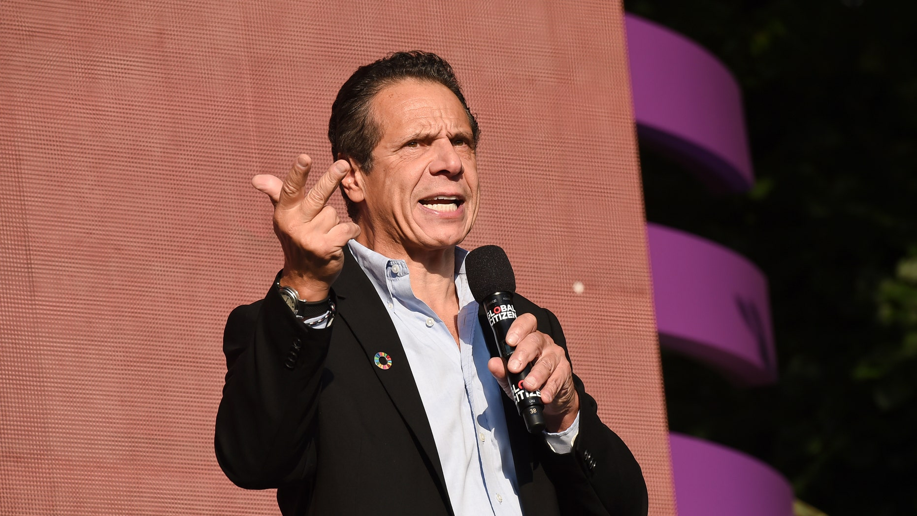 The widow of a slain police officer is attacking New York Gov. Andrew Cuomo in a new campaign ad over the parole and voting rights restoration of the man convicted of murdering her husband and his partner. (Photo by Evan Agostini/Invision/AP)