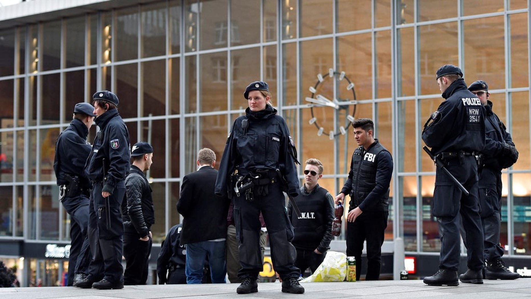 Cologne police said they have closed parts of the western German city's main train station because of a hostage situation. The incident appears to have started Monday at a pharmacy inside the train station.