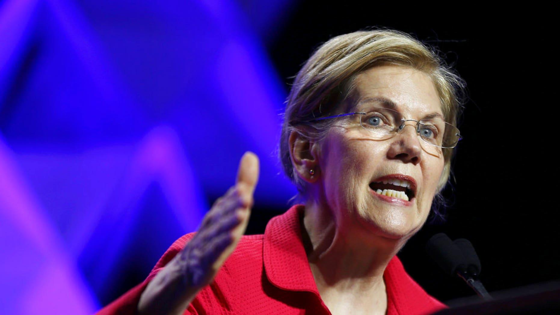 FILE - Sen. Elizabeth Warren, D-Mass. (AP Photo/Elise Amendola)