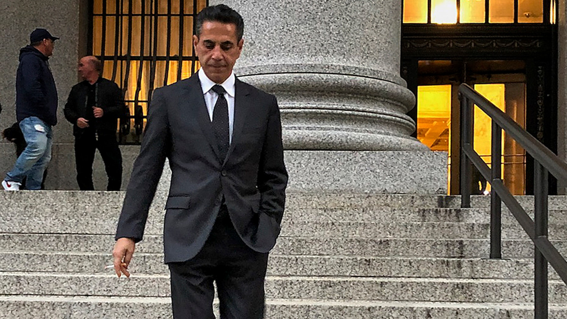 "Oct. 17: Reputed Philadelphia mob boss Joseph ""Skinny Joey"" Merlino leaves Manhattan federal court after he was sentenced."