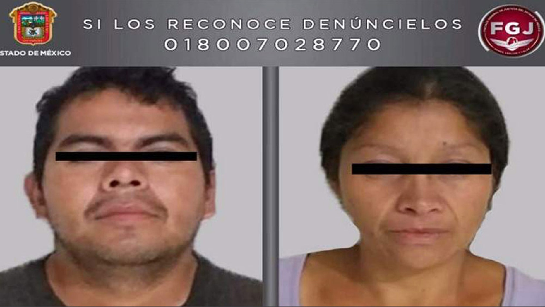 A man and woman - identified only as Juan Carlos and Patricia - were arrested for allegedly killing and dismembering as many as 20 women in Mexico.
