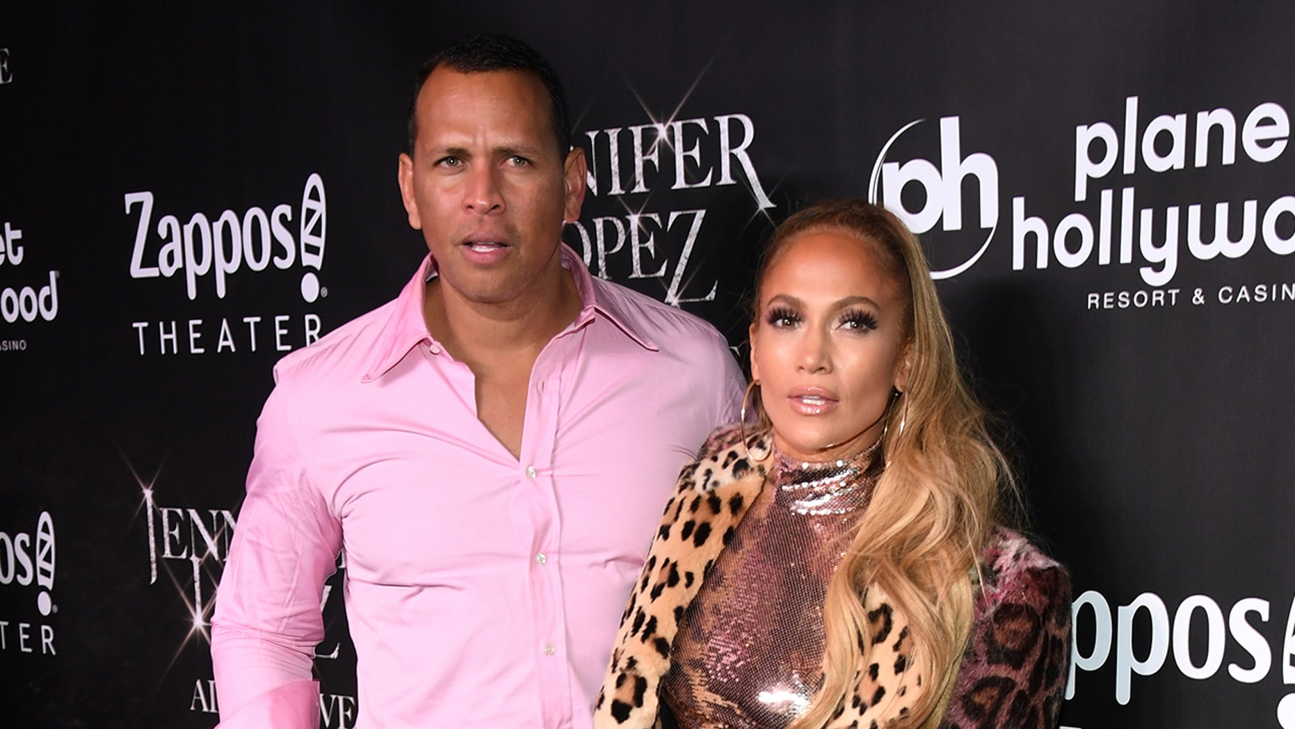 Alex Rodriguez shared a video of his girlfriend Jennifer Lopez wearing a big diamond sparklier on social media. (Photo by Ethan Miller/Getty Images for Caesars Entertainment)