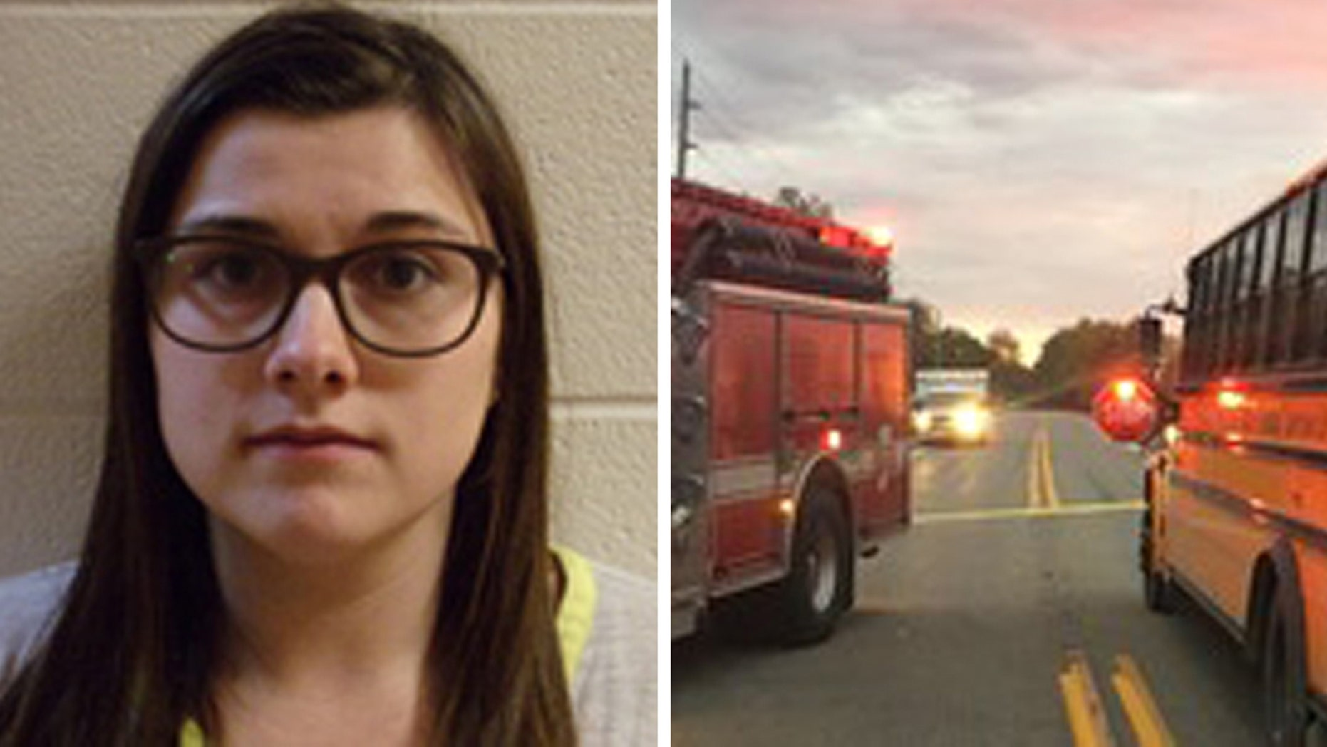 Three children were struck by a vehicle and killed at an Indiana school bus stop on Tuesday, and the suspected driver, Alyssa L. Shepherd, was arrested, state police said.