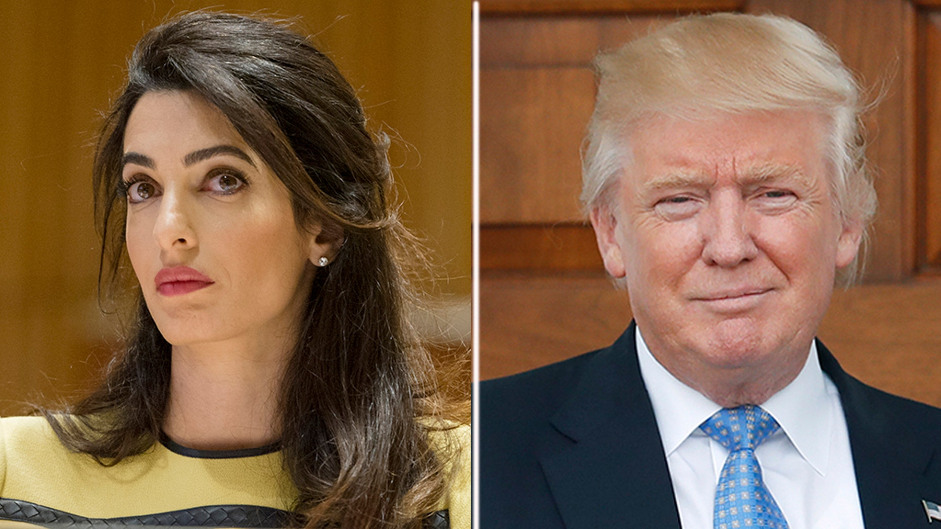 Amal Clooney reportedly took aim at President Trump on Friday for his previous controversial remarks about Christine Blasey Ford, who accused now-Supreme Court Justice Brett Kavanaugh of sexual assault.